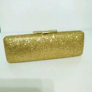 Gold Sequin Longline Clutch